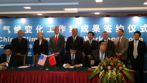 CAER's Kunlei Liu and Rodney Andrews attended a signing ceremony July 8 in Dongying, Shandong, China.