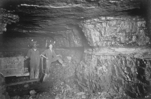 Two miners in the No. 205 Mine